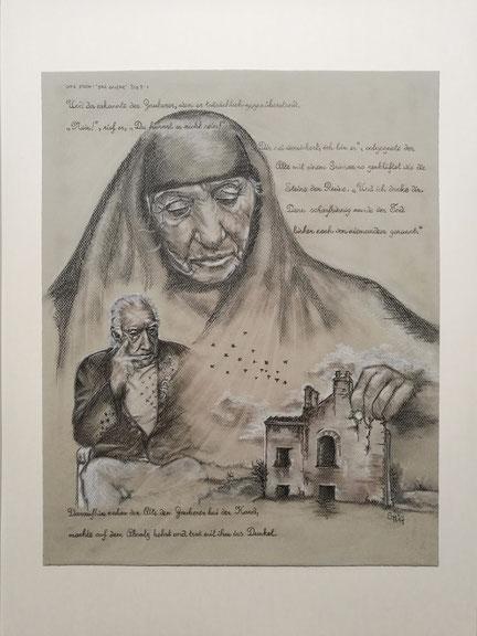 sam wolf Autorin Simone Müller Zeichnung Mann Frau Portrait