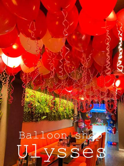 バースデー 店内装飾 バルーン装飾 誕生日 天井風船 イベント キャバクラ ホスト 茨城県つくば市ユリシス