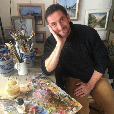 Daniel Franz Gisler Maler Kunst Kunstmaler Krinau Toggenburg Ostschweiz Atelier Atelier-Café Café Kulinarik Landschaften alte Bauernhäuser Häuser