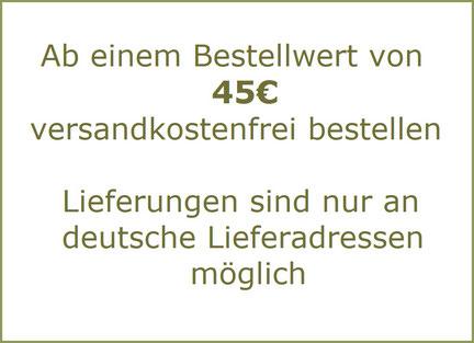 Versandkostenfreie Lieferung ab 40€ Bestellwert