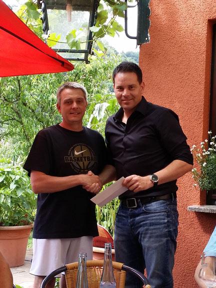 1. Geschäftsführer Georg Stenzel verabschiedet Frank Castor