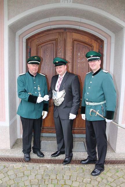 Major Heinz Schröder, König Dennis Gipperich & Hauptmann Georg Scheiwe