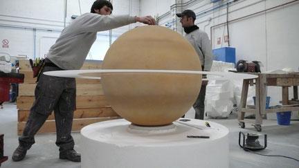Modelo de Saturno, con aro