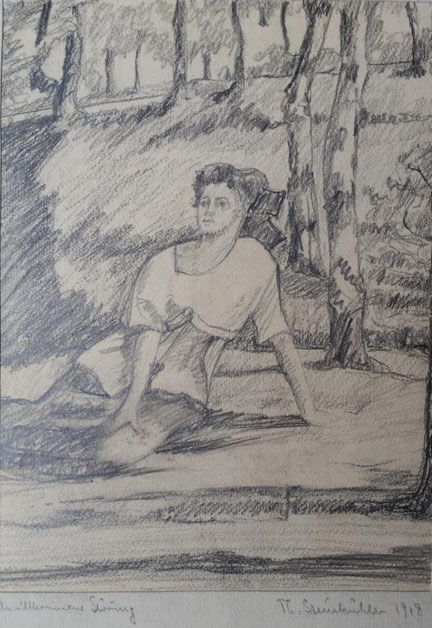 Theodor Steinkühler: Unwillkommenen Störung, Schloss Stadthagen, 1918