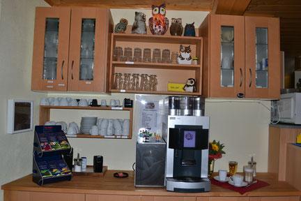 Unsere Kaffeetheke - täglich geöffnet von 7:00 Uhr bis 18:00 Uhr!