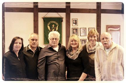 Die Personen auf dem Foto sind von links nach rechts: Simone Pollmanns, Dieter Heinrich, Dieter Glowatz, Mariana Glowatz, Doris Fasel, Wolfgang Rabe,