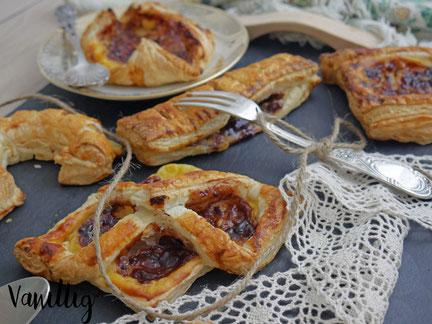 Blätterteig, Falten mit blätterteig, Nachtisch, süßes Gebäck,