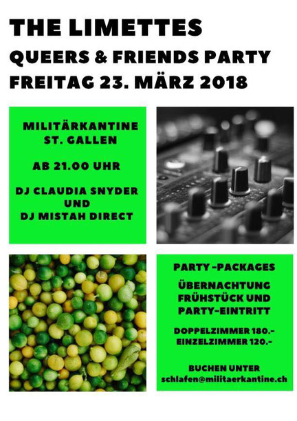 The Limettes Queers&Friends Party März 2018