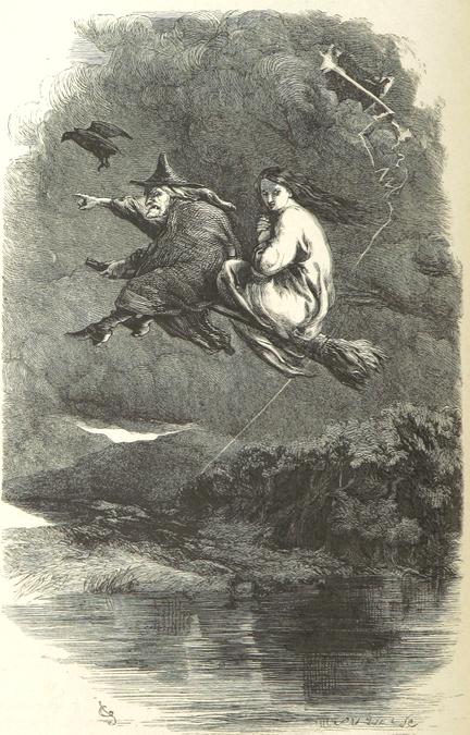 Symbolbild Hexen in einer Erzählung - Volksglauben in Sölden