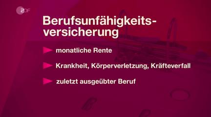 ZDF WISO BU Erklärung Leistungsanspruch