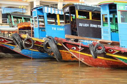 Bateaux de pêcheurs à My Tho