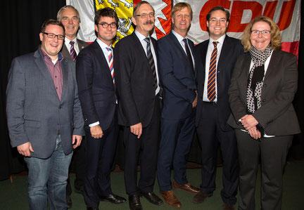 Der geschäftsführende Vorstand des CDU Kreisverbandes Steinburg.