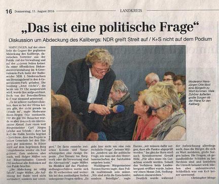 Quelle: Cellesche Zeitung, 11.08.2016