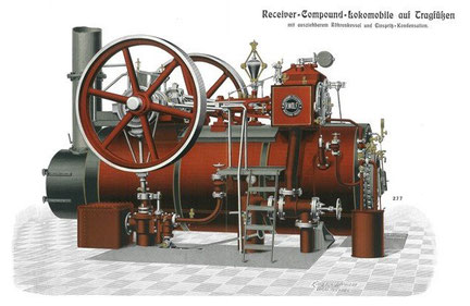 So sah die Maschine aus, die den Generator antrieb