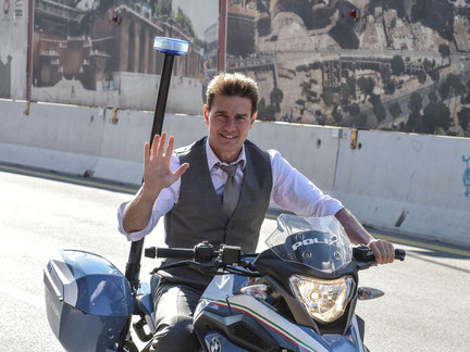 Tom Cruise en rodaje de Mision Imposible 7