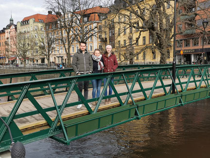 Jonas, Pauline und Jana in Uppsala