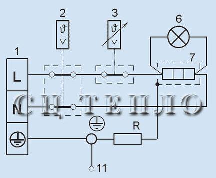 Электрическая схема водонагревателя Татрамат, моделей: EO 5-15 P/N, ЕО 30-150j, EOV, ELOV, OVK, LOVK