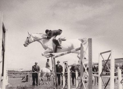 Paolo Racugno all'ippodromo di Cagliari nel 1970