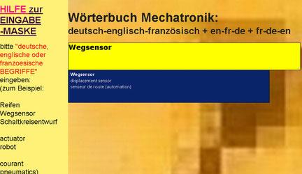 französisch-englisch-deutsch Wörterbuch Kfz-Mechatroniker/Mechatroniker/Maschinenbau