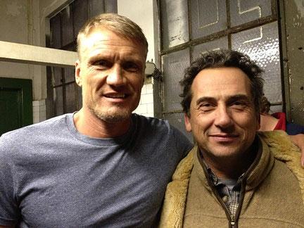 Giorgio Serafini mit Dolph Lundgren