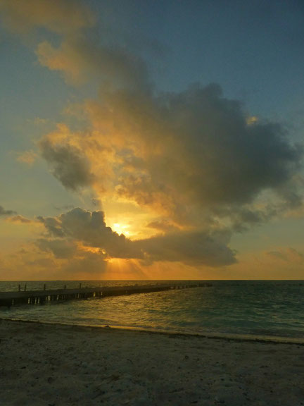 Bannister Island, Belize beach sunset