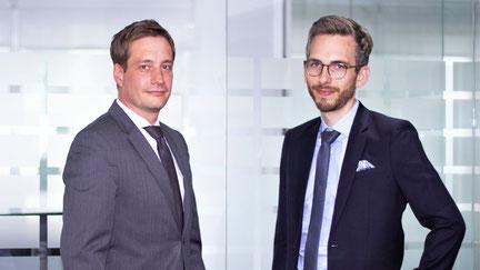 Rouven Lenhart (director gerente de la División de Desarrollo de Negocios y Ventas Internacionales) y Jonas Riexinger (director gerente de la División Técnica)