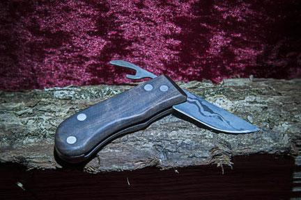 Schwenkerlmesser nach dem Vorbild eines keltischen Messers geschmiedet und gebaut. Das Taschenmesser der Kelten.