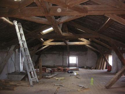 Rénovation intérieure : combles avant travaux