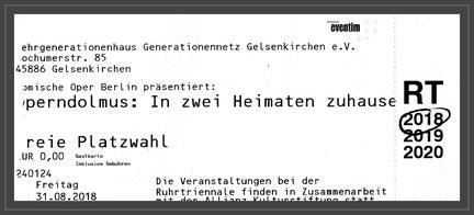 Foto: W. Müller  Eintrittskarte entwertet
