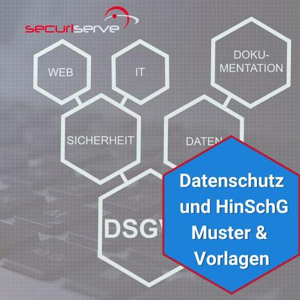 Vorlagen für Prozesse zur Umsetzung von Datenschutz im Unternehmen (Abbildung Beispiele)