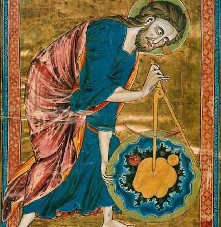Dio ritratto come un architetto: codice Vindobonensis 2554 (1250)