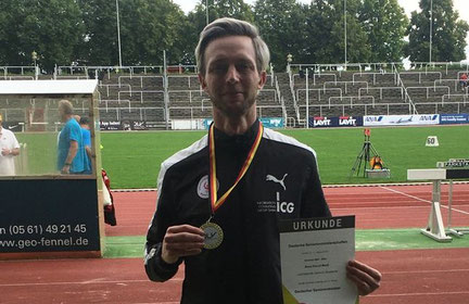René Menk wurde Deutscher Meister und Deutscher Vizemeister