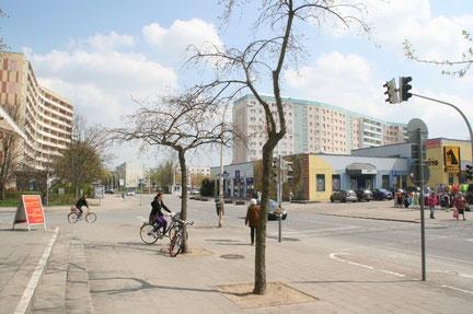 Blick auf Neubrandenburgs ehemalige Schülegaststätte in der Oststadt.