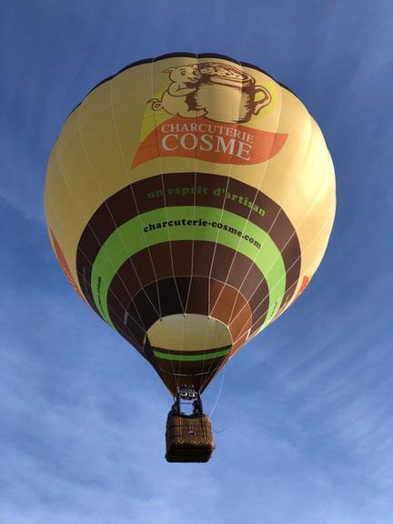 survol de la sarthe en montgolfiere