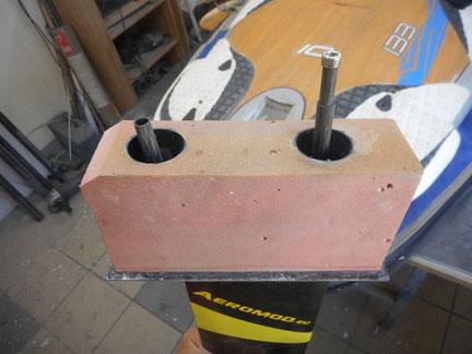 détail de boitier de planche à voile avec winfoil aeromod