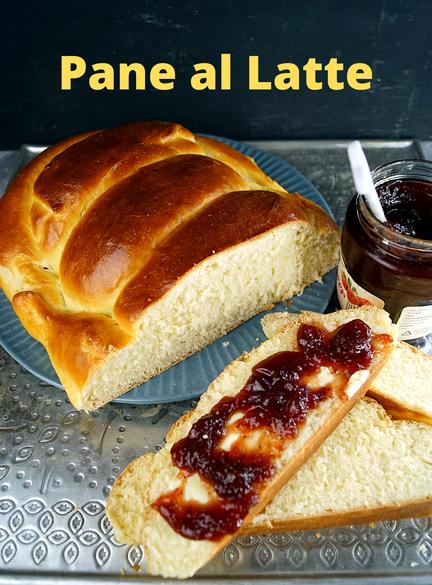 Pane al Latte, italienisches Milchbrot macht sich wunderbar auf jedem Frühstückstisch.
