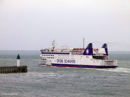 Deal Seaways leaving Dover, bount to Calais.