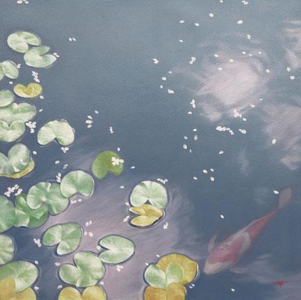 「春の風が吹いた」 油彩・キャンバス S6 252,000円