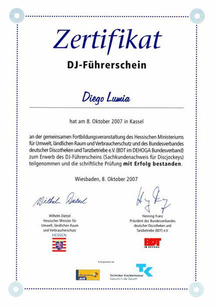 DJ Disc Jockey Frankfurt Club House Black Charts Events Hochzeit Wedding Führerschein