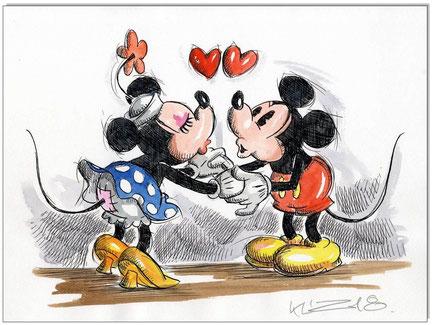 Mickey & Minnie in love I