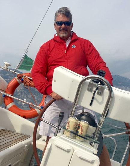 Sempre sul lago di Garda al timone di Thin Blue Line, la mia nuova barca.