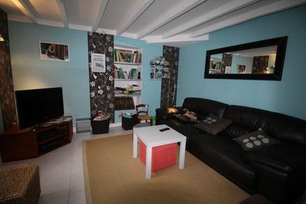 salon TV de la chambre d'hôtes du clos Jargot à Limoges