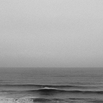 Wellenreiten in Lafitenia im Baskenland.
