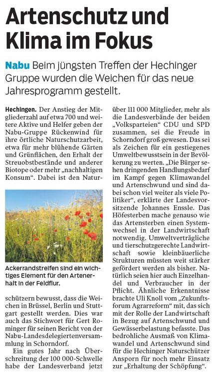 Hohenzollerische Zeitung, 06.12.2019