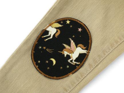 Sparpreis Hosenflicken Set blau pink, Herz Flicken zum aufbügeln