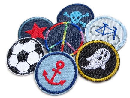 Set Sparpreis Sale Jeansflicken Hosenflicken, Flicken zum aufbügeln