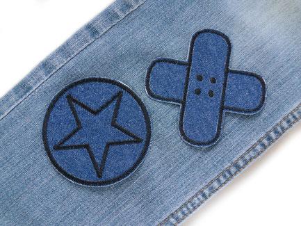 Set Sparpreis Jeansflicken Hosenflicken Stern Pflaster Flicken zum aufbügeln
