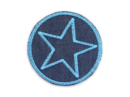 Bild: Jeansflicken Hosenflicken Stern blau