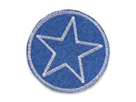 Bild: Jeansflicken Stern hellgrau, Hosenflicken Stern zum aufbügeln