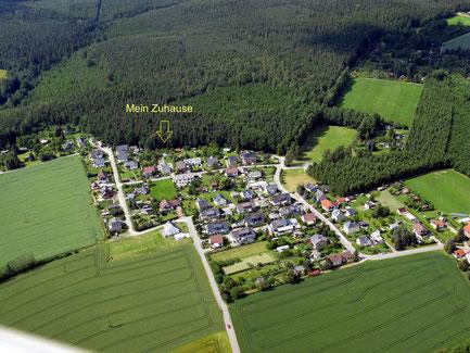 Luftbildaufnahme der Waldsiedlung (im Ortsteil Reudnitz gelegen)